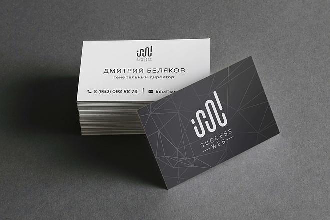 Дизайн, верстка, макет визитки 9 - kwork.ru
