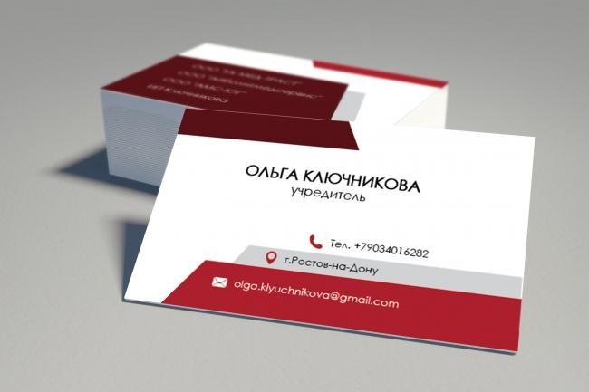Дизайн, верстка, макет визитки 27 - kwork.ru