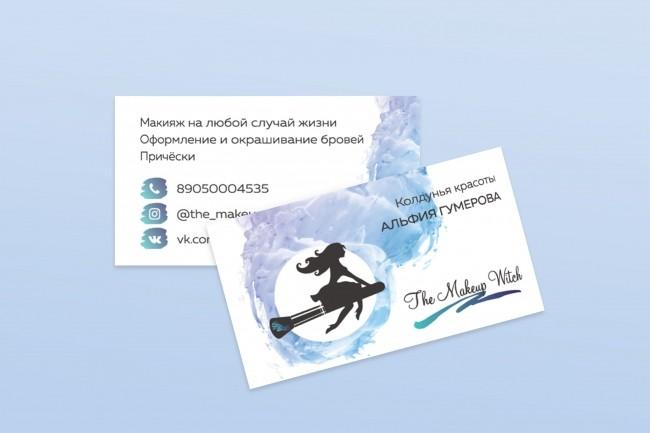 Дизайн, верстка, макет визитки 22 - kwork.ru