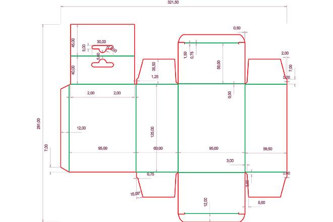 Разработка кроя упаковки из картона или микрогофрокартона 4 - kwork.ru
