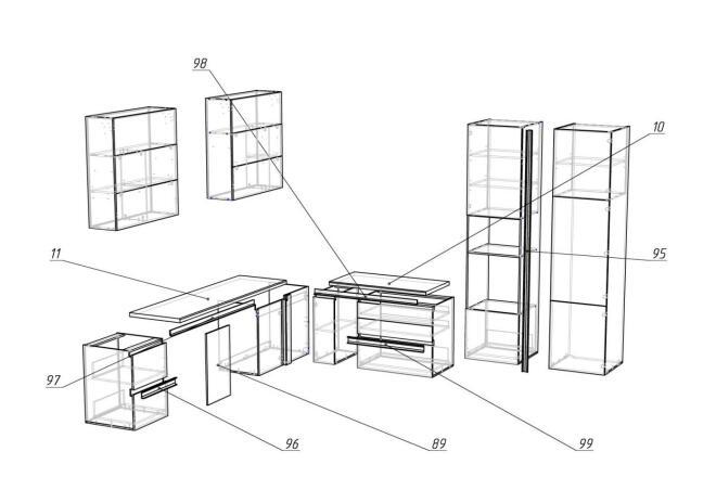 Чертежи мебели для производства в программе базис мебельщик 18 - kwork.ru