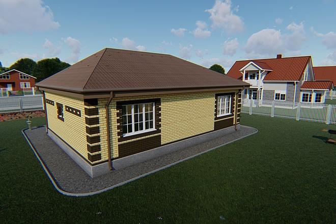 Фотореалистичная 3D визуализация экстерьера Вашего дома 84 - kwork.ru