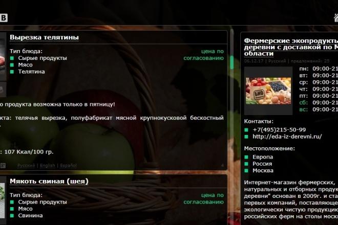 Создам интернет-магазин продуктов питания и готовой еды 2 - kwork.ru