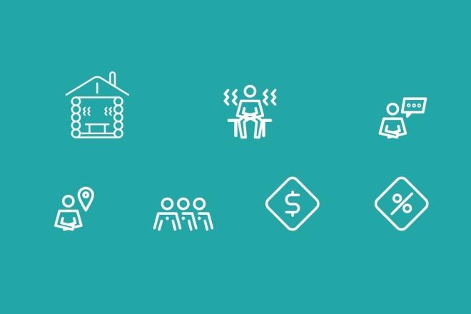 Нарисую векторные иконки для сайта, соц. сетей, приложения 11 - kwork.ru