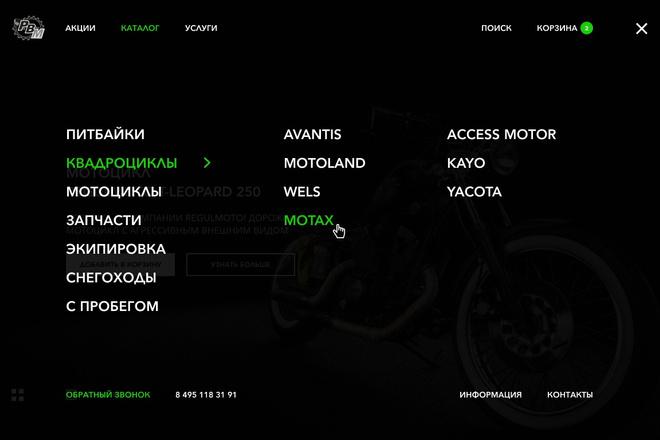 Уникальный дизайн сайта 15 - kwork.ru