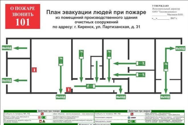 Разработка плана эвакуации по ГОСТу 7 - kwork.ru