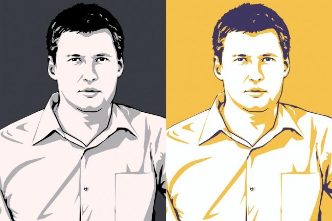 Качественный поп-арт портрет по вашей фотографии 38 - kwork.ru