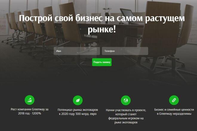 Скопировать Landing page, одностраничный сайт, посадочную страницу 49 - kwork.ru