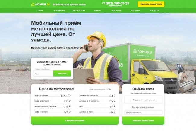 Продающий сайт - Лендинг под ключ, для любых целей 60 - kwork.ru