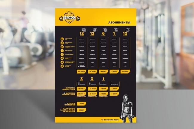 Разработаю дизайн прайса или меню 10 - kwork.ru