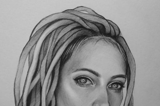 Нарисую портрет по фото карандашом 3 - kwork.ru