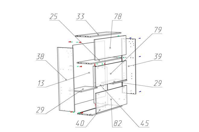 Чертежи мебели для производства в программе базис мебельщик 17 - kwork.ru