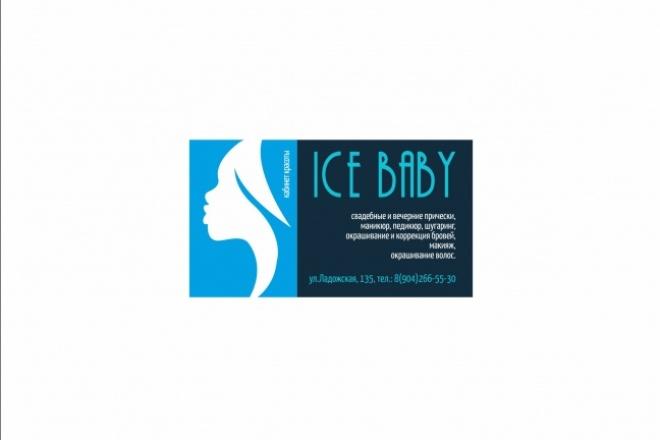 Дизайн визитки 97 - kwork.ru