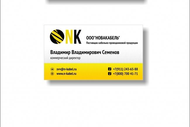 Дизайн визитки 74 - kwork.ru