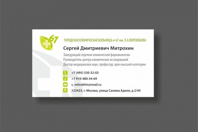 Дизайн визитки 53 - kwork.ru