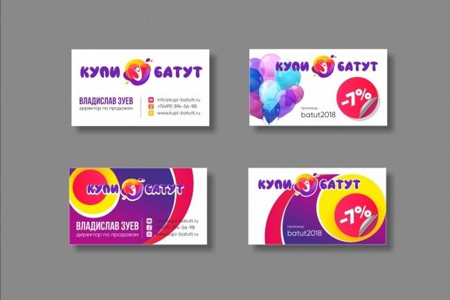 Дизайн визитки 51 - kwork.ru