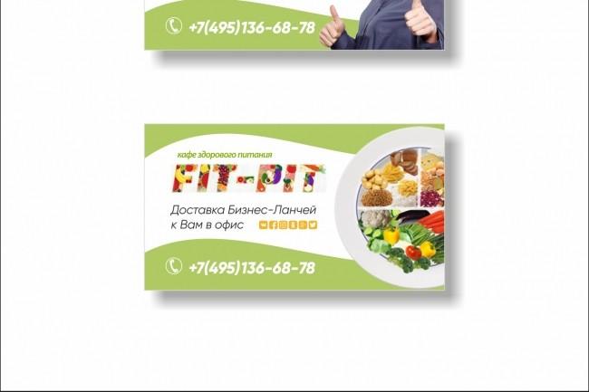 Дизайн визитки 47 - kwork.ru