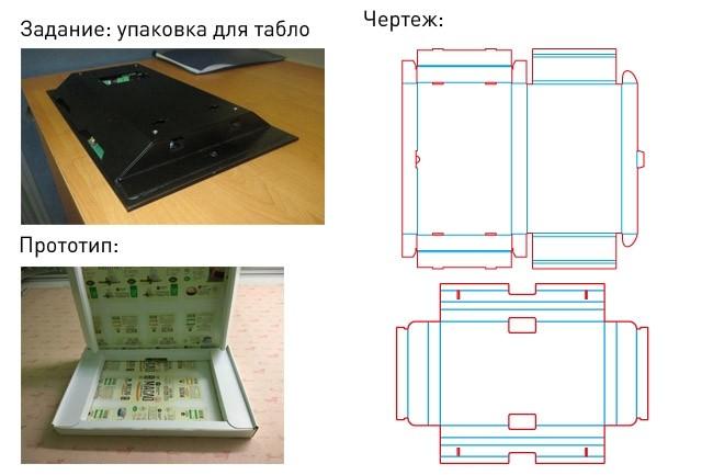 Разработка кроя упаковки из картона или микрогофрокартона 35 - kwork.ru