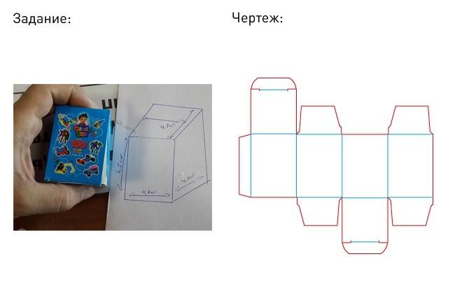 Разработка кроя упаковки из картона или микрогофрокартона 34 - kwork.ru