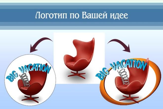 Создам логотип по вашей идее, рисунку 35 - kwork.ru