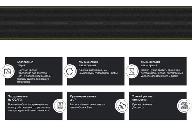Верстка страницы сайта из PSD макета 21 - kwork.ru