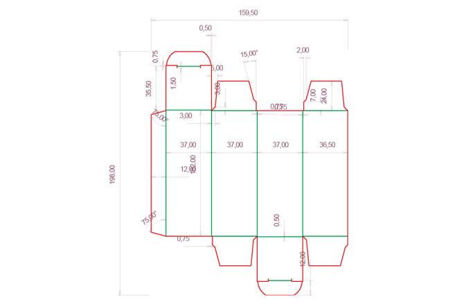 Разработка кроя упаковки из картона или микрогофрокартона 3 - kwork.ru