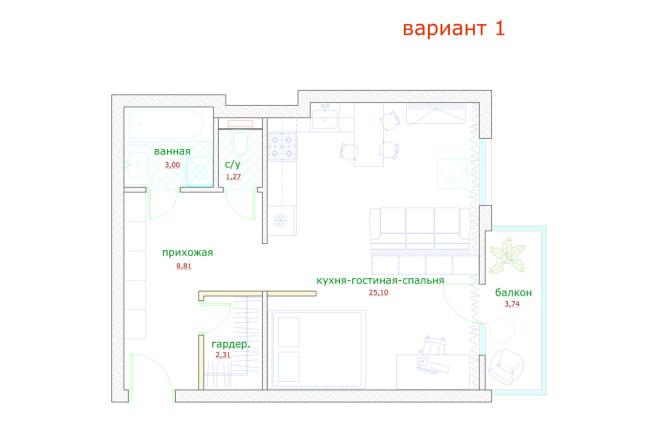 Планировка и перепланировка квартиры, дома и других помещений 7 - kwork.ru