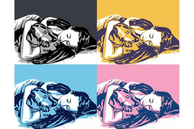 Качественный поп-арт портрет по вашей фотографии 7 - kwork.ru