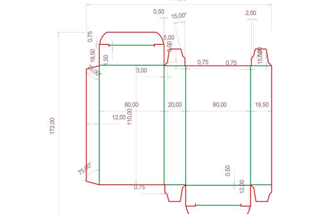 Разработка кроя упаковки из картона или микрогофрокартона 24 - kwork.ru