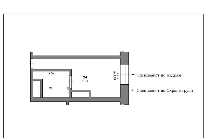 Окажу помощь в создании плана помещения или этажа 3 - kwork.ru