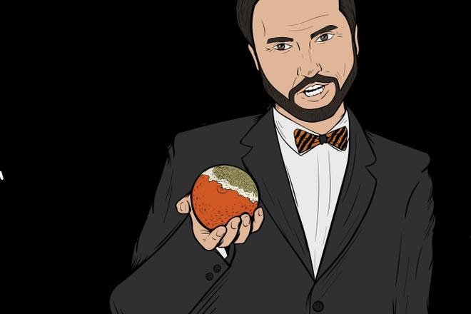 Портрет в стиле комикс поп-арт по фотографии 4 - kwork.ru