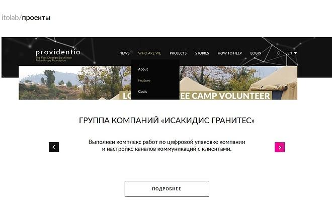 Верстка страницы сайта или лендинга из вашего PSD 13 - kwork.ru
