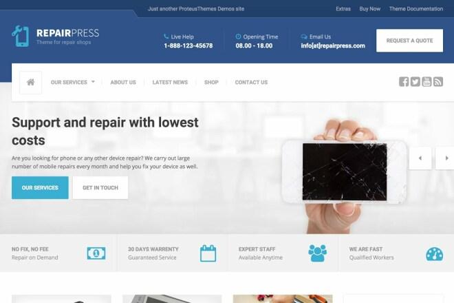 Тема RepairPress с плагинами для WordPress на русском с обновлениями 8 - kwork.ru