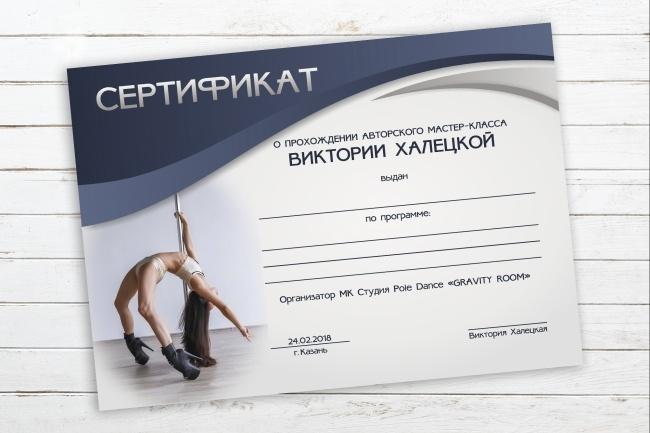 Разработаю дизайн сертификата, диплома 21 - kwork.ru