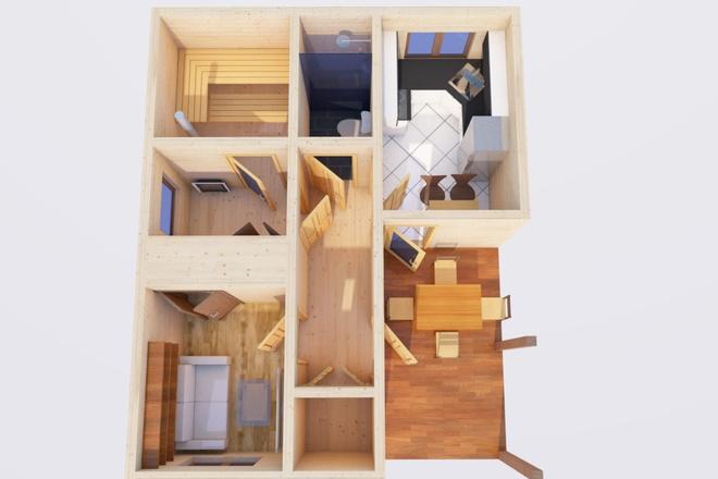 Оцифровка плана этажа, перечерчивание плана дома в Archicad 8 - kwork.ru