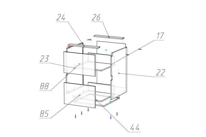 Чертежи мебели для производства в программе базис мебельщик 15 - kwork.ru