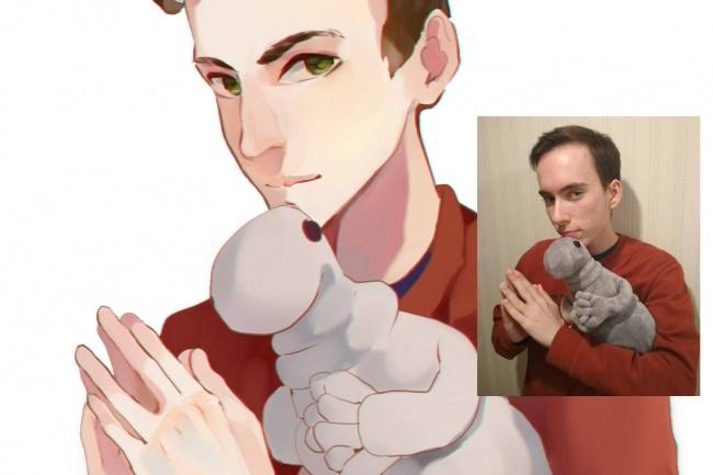 Создам ваш портрет в стиле аниме 38 - kwork.ru