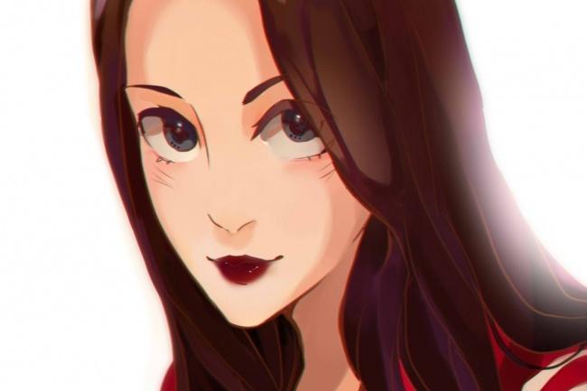 Создам ваш портрет в стиле аниме 37 - kwork.ru
