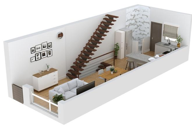 3d визуализация плана помещения 11 - kwork.ru