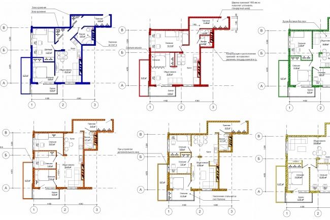 Планировка и перепланировка квартиры, дома, офиса 25 - kwork.ru