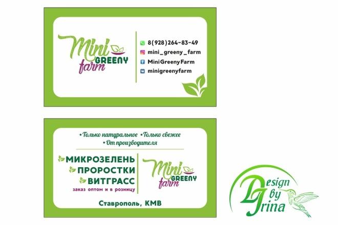 Визитка двусторонняя 16 - kwork.ru