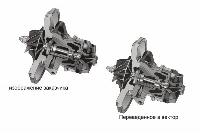 Переведу в вектор изображение любой сложности. Качественно 31 - kwork.ru
