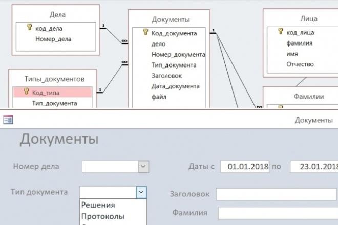 Создам базу в MS Access 23 - kwork.ru