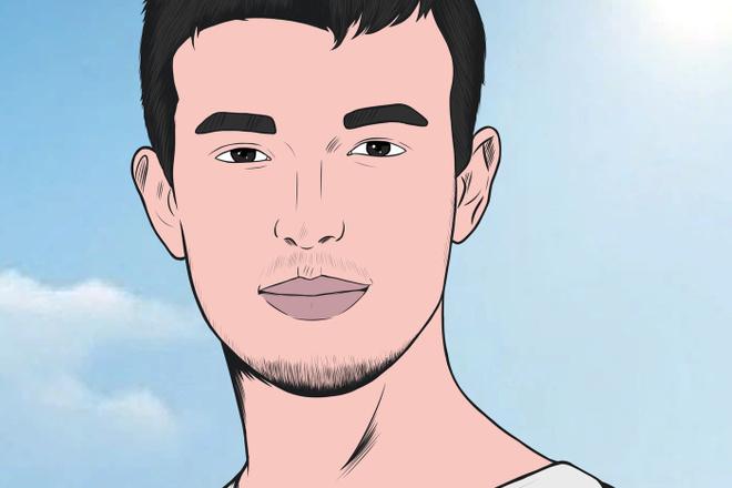 Портрет в стиле комикс поп-арт по фотографии 8 - kwork.ru