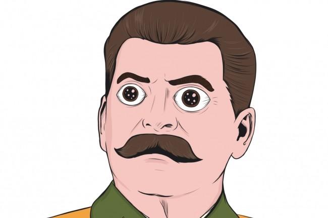 Портрет в стиле комикс поп-арт по фотографии 12 - kwork.ru