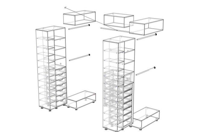Чертежи мебели для производства в программе базис мебельщик 69 - kwork.ru