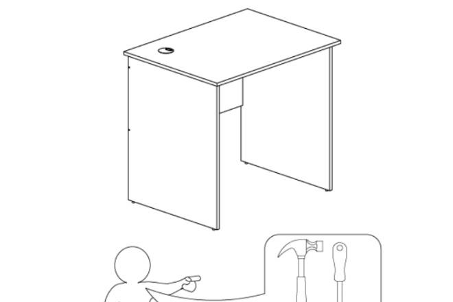 Схема, инструкция сборки мебели 4 - kwork.ru