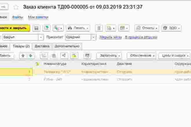 Напишу отчет, печатную форму, обработку 1С 35 - kwork.ru