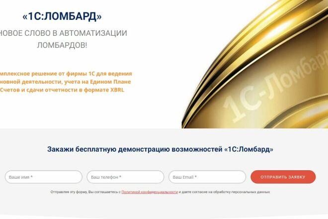 Скопировать Landing page, одностраничный сайт, посадочную страницу 92 - kwork.ru