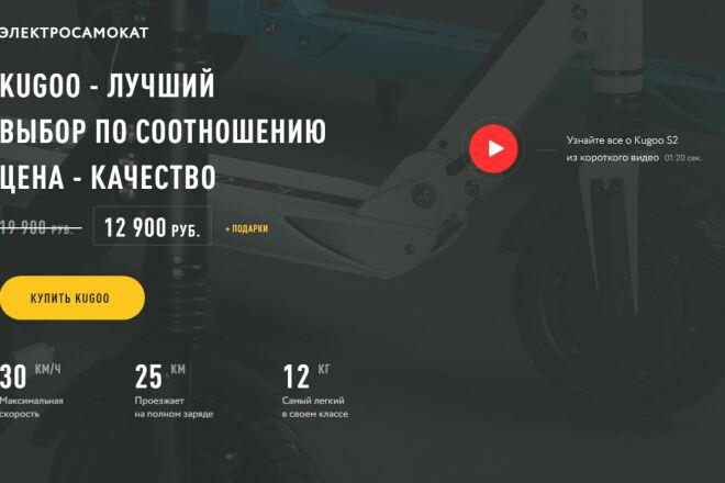 Скопировать Landing page, одностраничный сайт, посадочную страницу 85 - kwork.ru